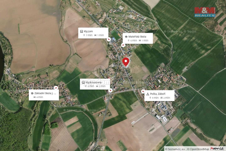 Prodej pozemku k bydlení, 1047 m², Kly