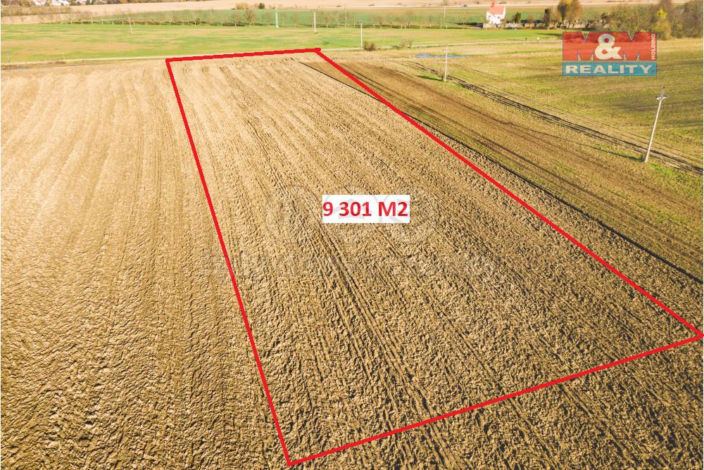 Prodej pole, 9301 m², Všestary