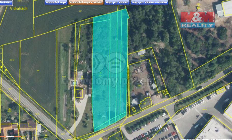 Prodej pozemku, 6622 m2, Milovice