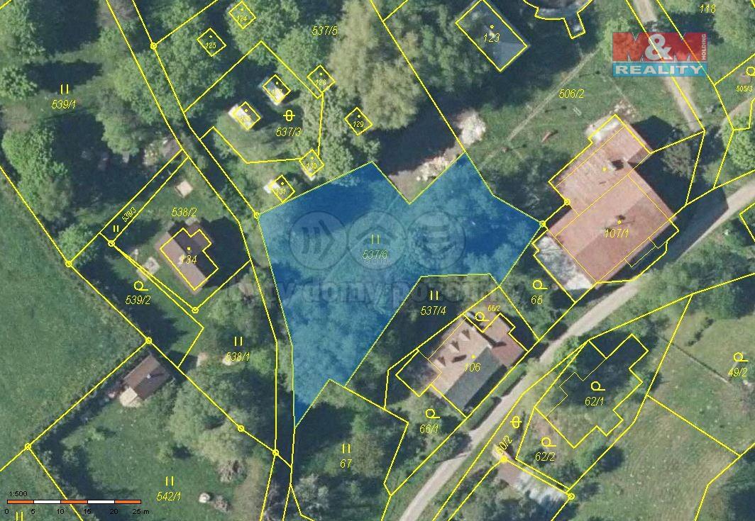 Prodej pozemku k bydlení, 1217 m², Jívka