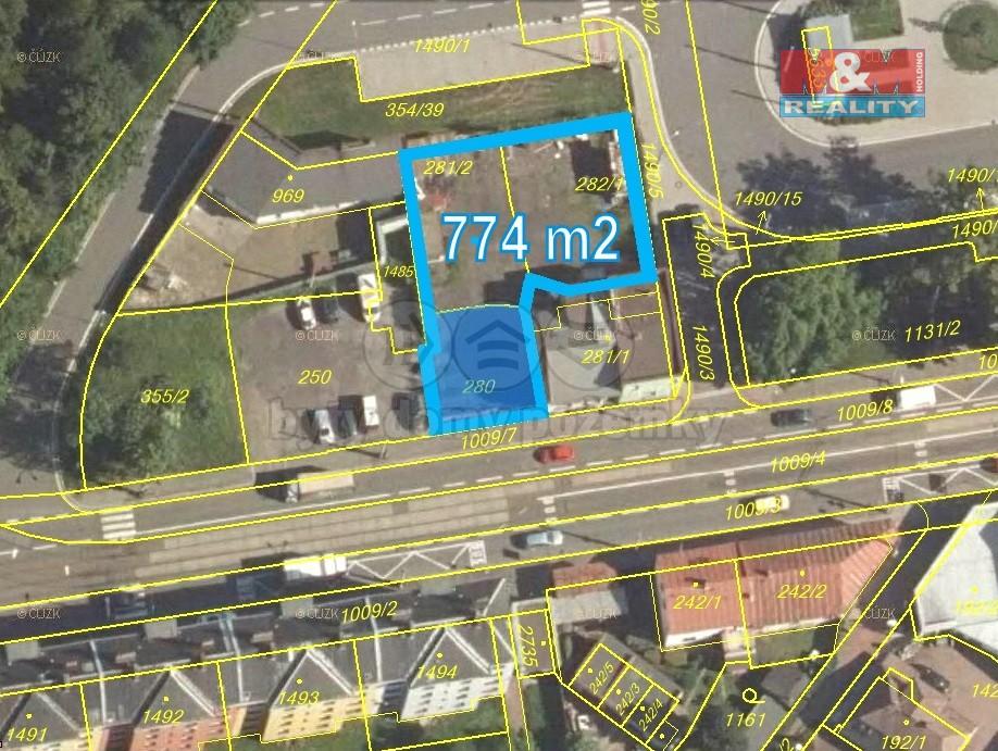 Prodej pozemku k bydlení, 774 m², Ostrava