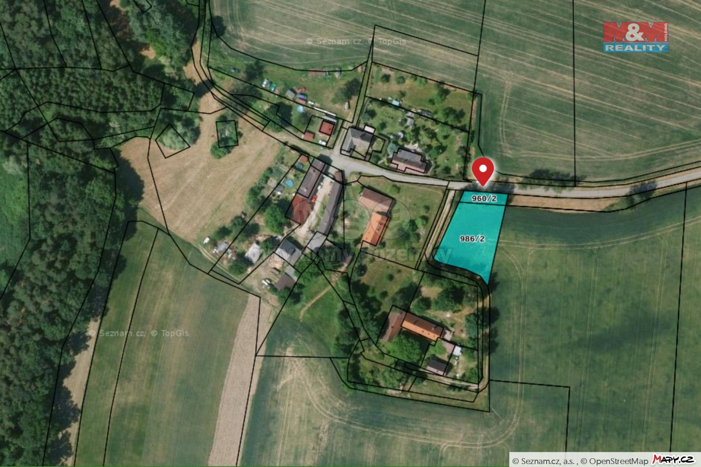 Prodej pozemku k bydlení, 1119 m², Nemyšl