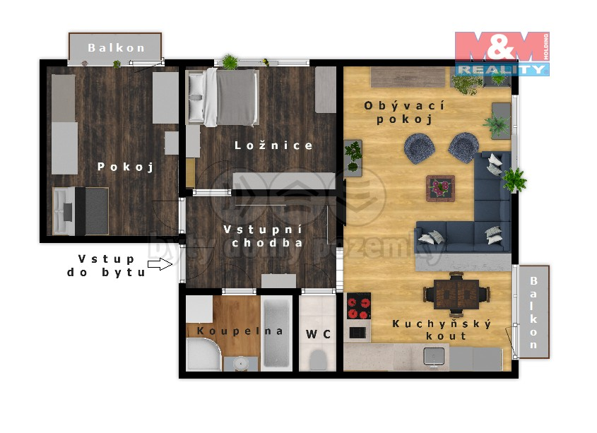 Prodej bytu 3+1, Radíč
