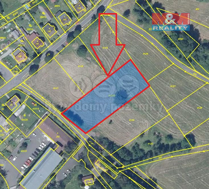 Prodej pozemku k bydlení, 2378 m², Huntířov
