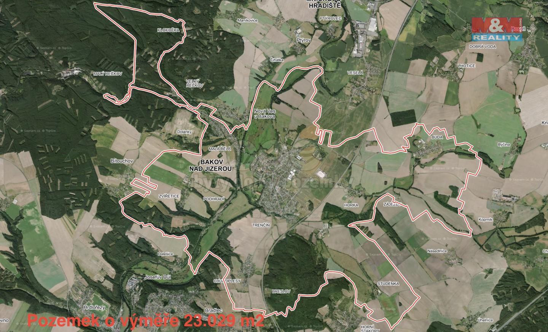 Prodej, pole, 23029 m2, Bakov nad Jizerou
