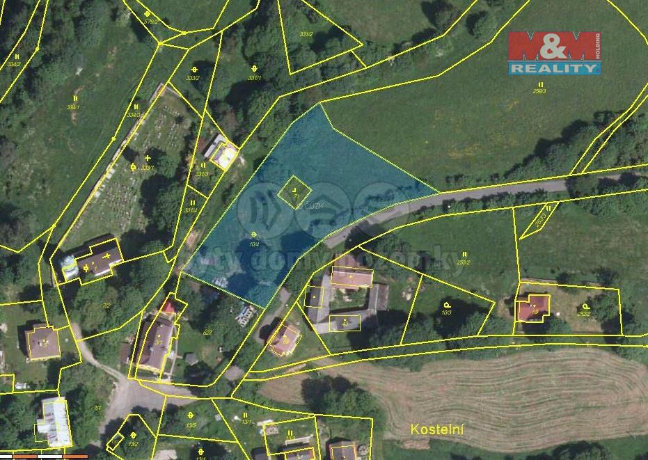 Prodej pozemku k bydlení, 3260 m², Kraslice - Kostelní