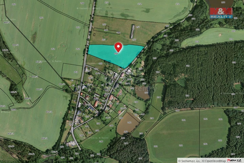 Prodej louky, 14820 m², Bezvěrov, Buč