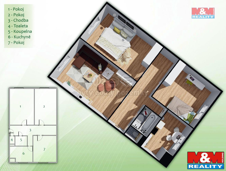 Prodej bytu 3+1, 67 m², Brno, ul. Mlýnská