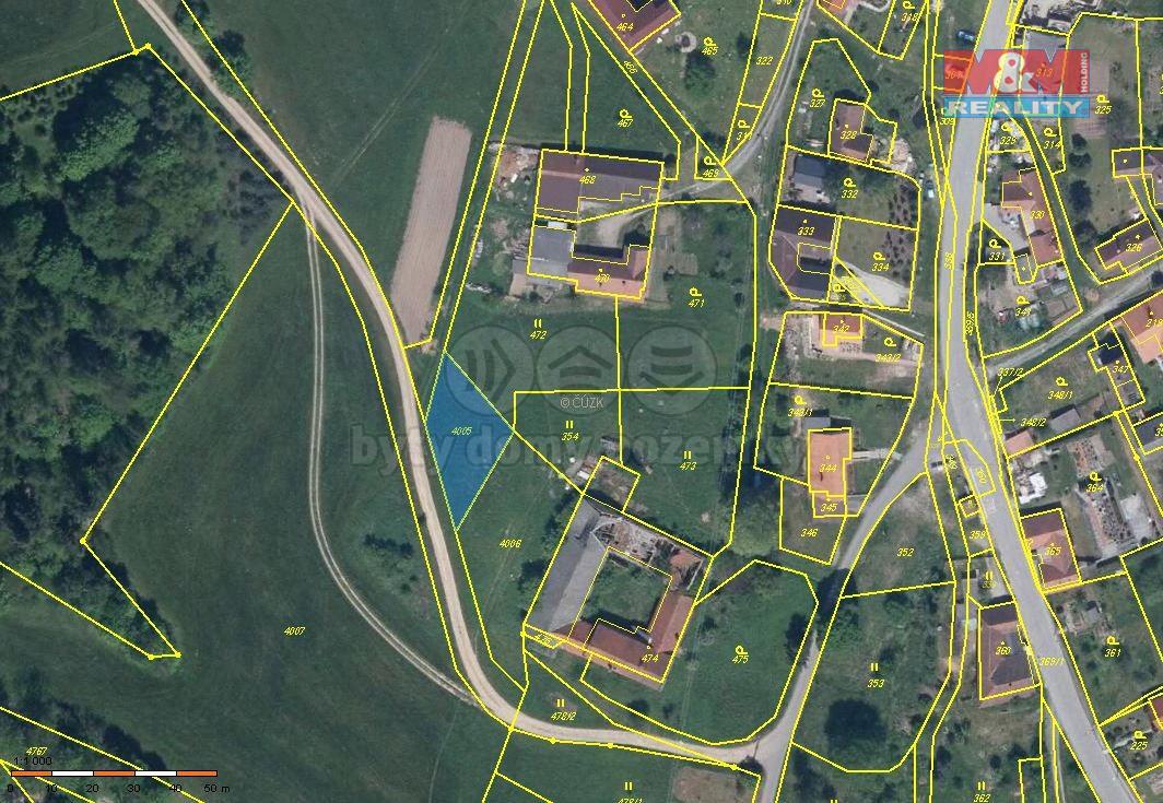Prodej pozemku, 473 m², Skřípov