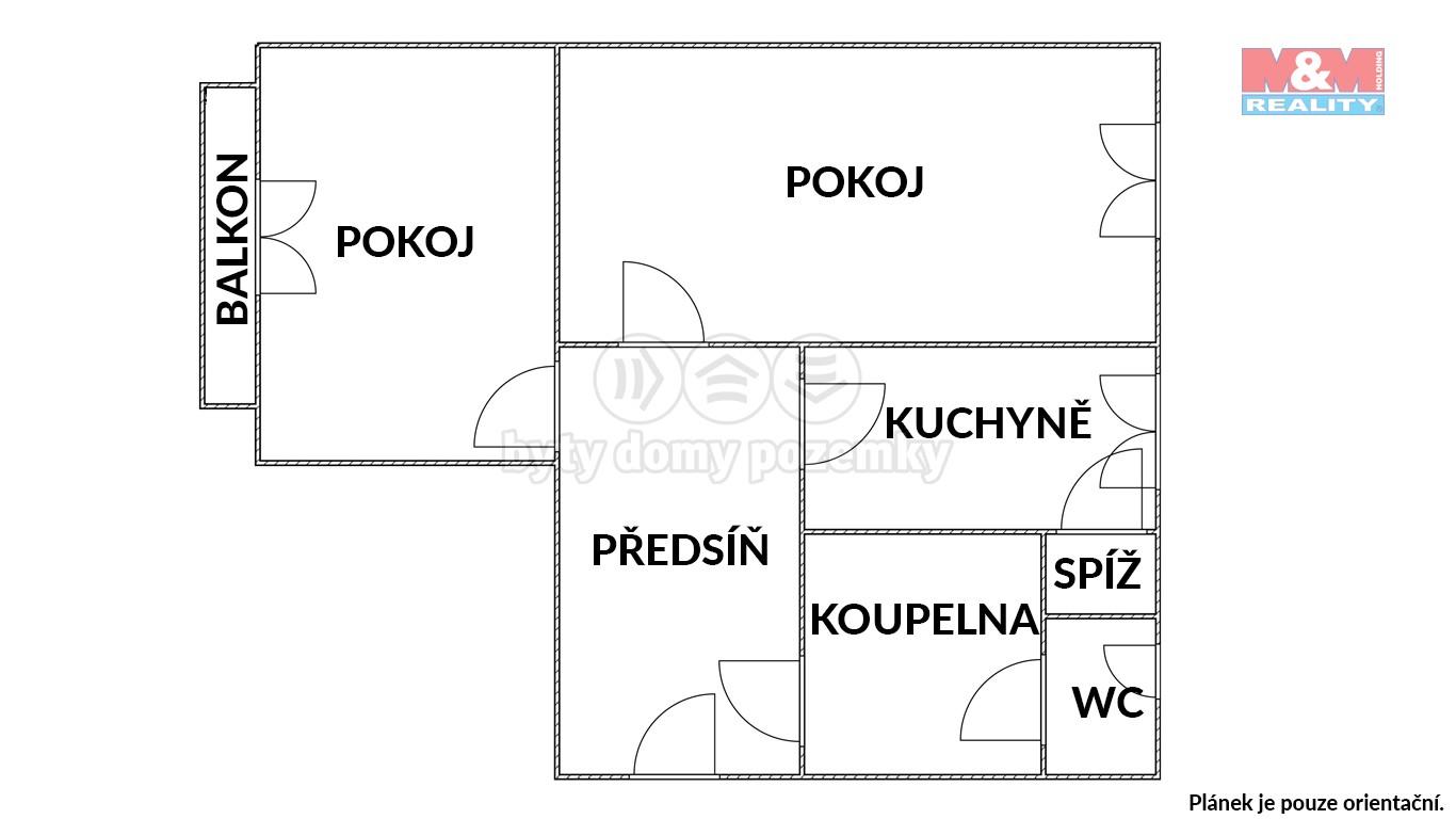 Pronájem, byt 2+1, 57 m², Brno, ul. Preslova