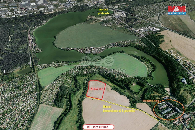 Prodej pozemku k bydlení, 28042 m², Plzeň