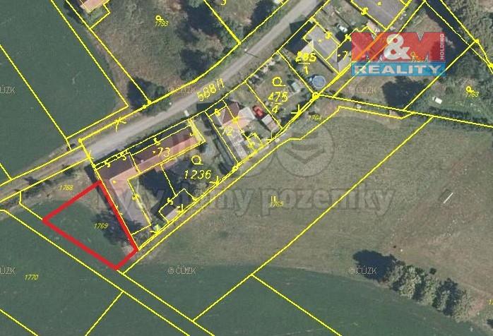 Prodej, pozemek k bydlení, 567 m², Chrtníč