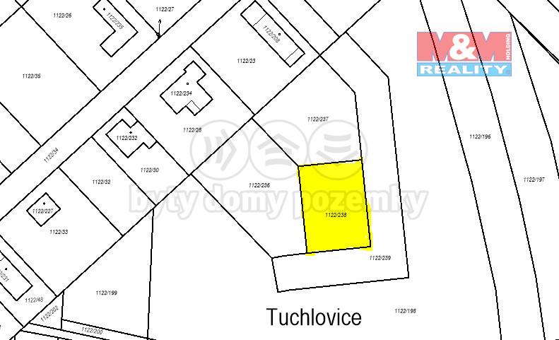 Prodej pozemku k bydlení, 782 m², Tuchlovice