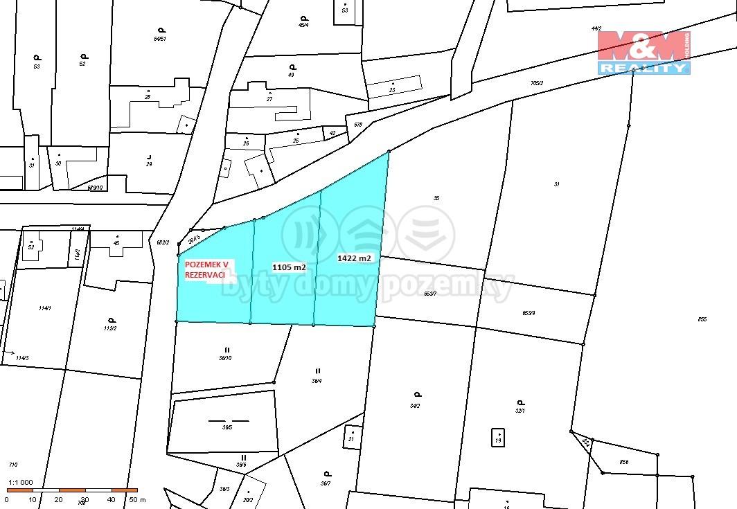 Prodej pozemku k bydlení, 1422 m², Málkov