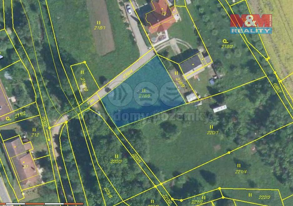 Prodej pozemku k bydlení, 877 m², Chyjice