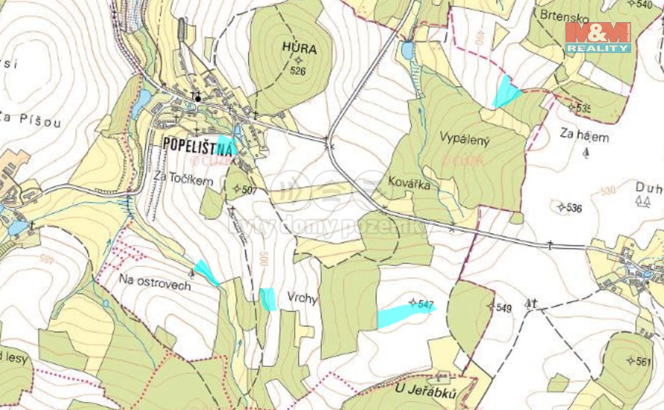 Prodej pole, 36346 m², Červená Řečice, Popelištná