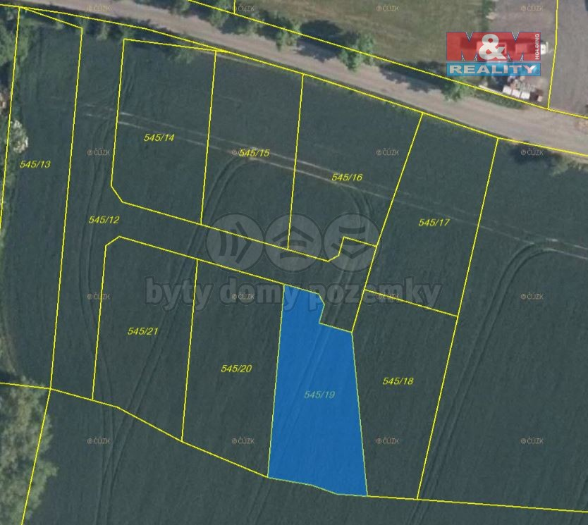 Prodej pozemku k bydlení, 829 m², Horní Slivno