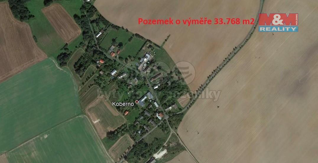 Prodej, pole, 33768 m2, Koberno