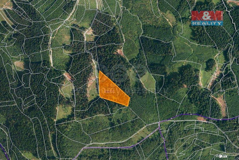 Prodej lesa, 16652 m², Lhota u Vsetína