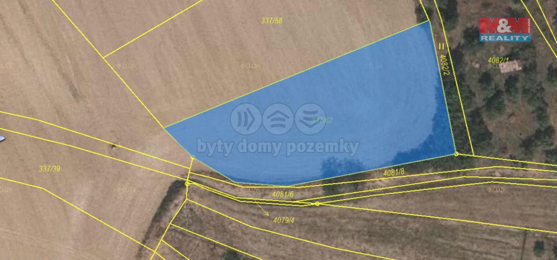Prodej pole, 1329 m², Vyškov