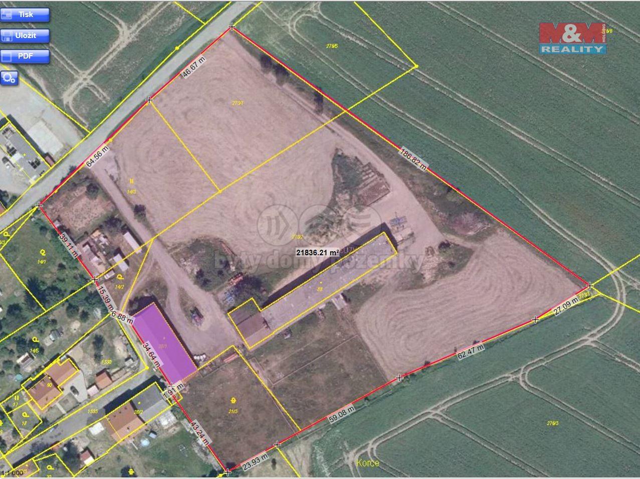 Prodej zemědělského objektu, 21470 m², Dubá