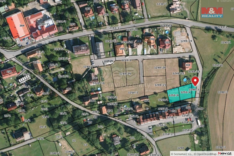 Prodej pozemku k bydlení, 896 m², Borotín