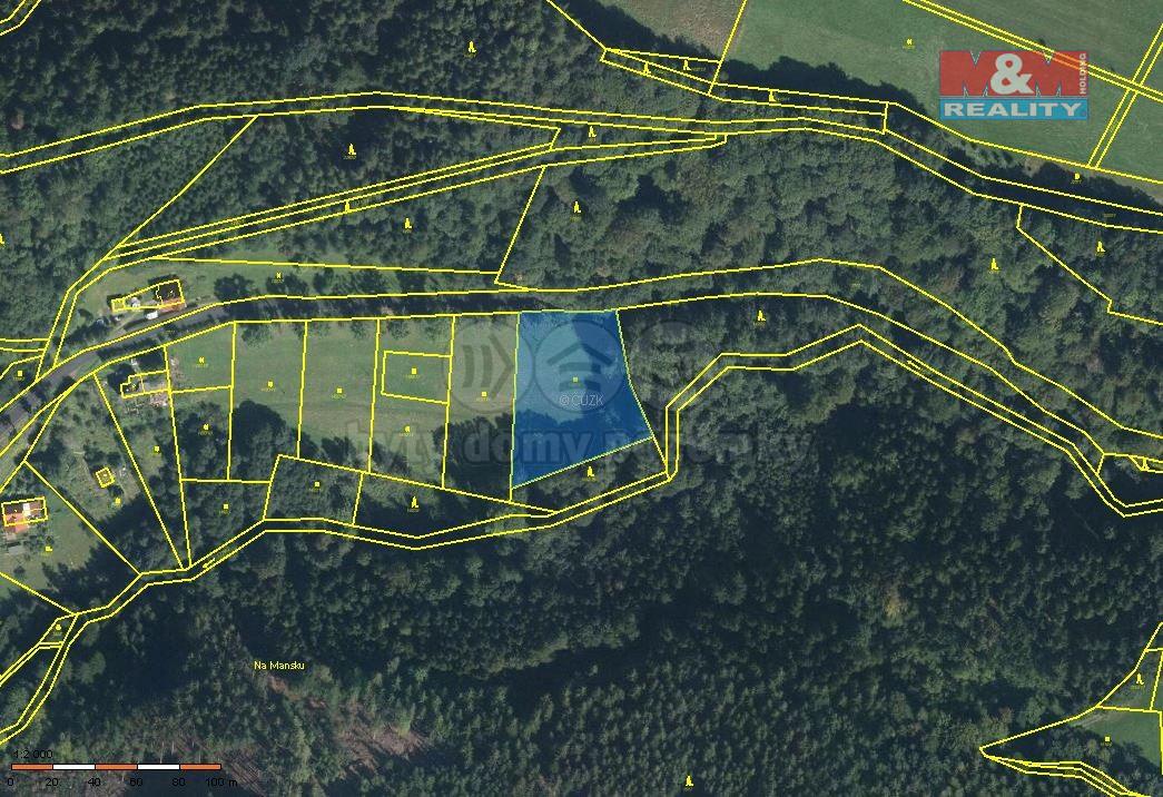 Prodej pozemku, 4093 m², Jesenný