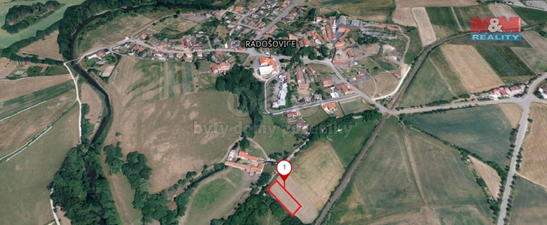Prodej pozemku k bydlení, 1351 m², Radošovice