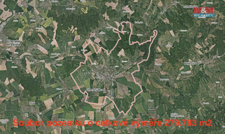 Prodej, pole, 279783 m2, Uherský Brod