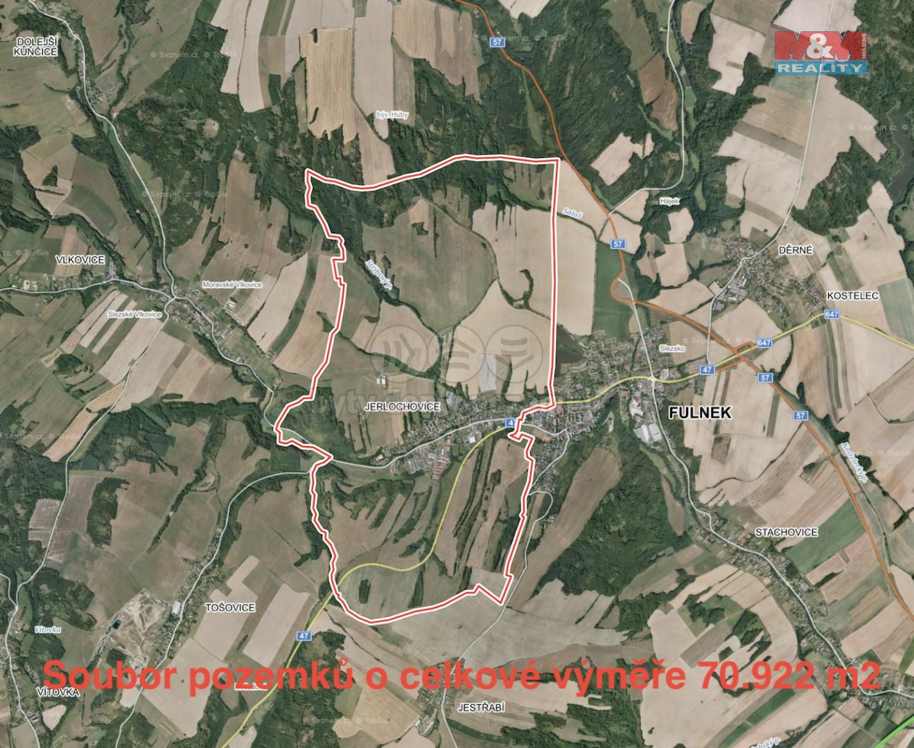 Prodej, pole, 70922 m2, Jerlochovice