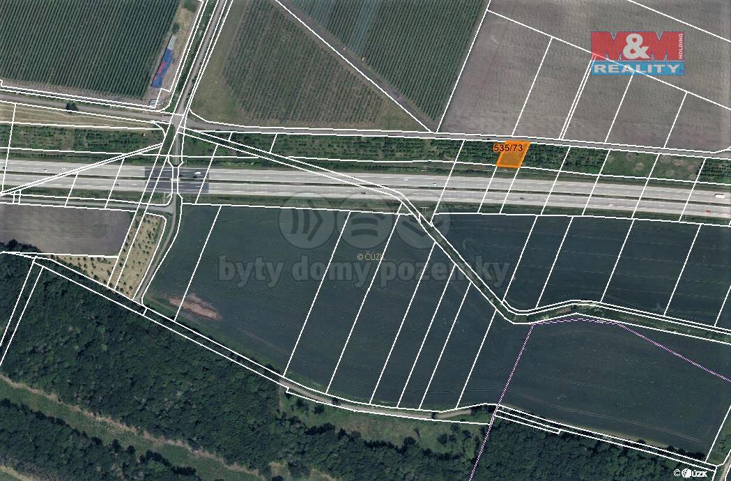 Prodej pole, 656 m², Choťovice