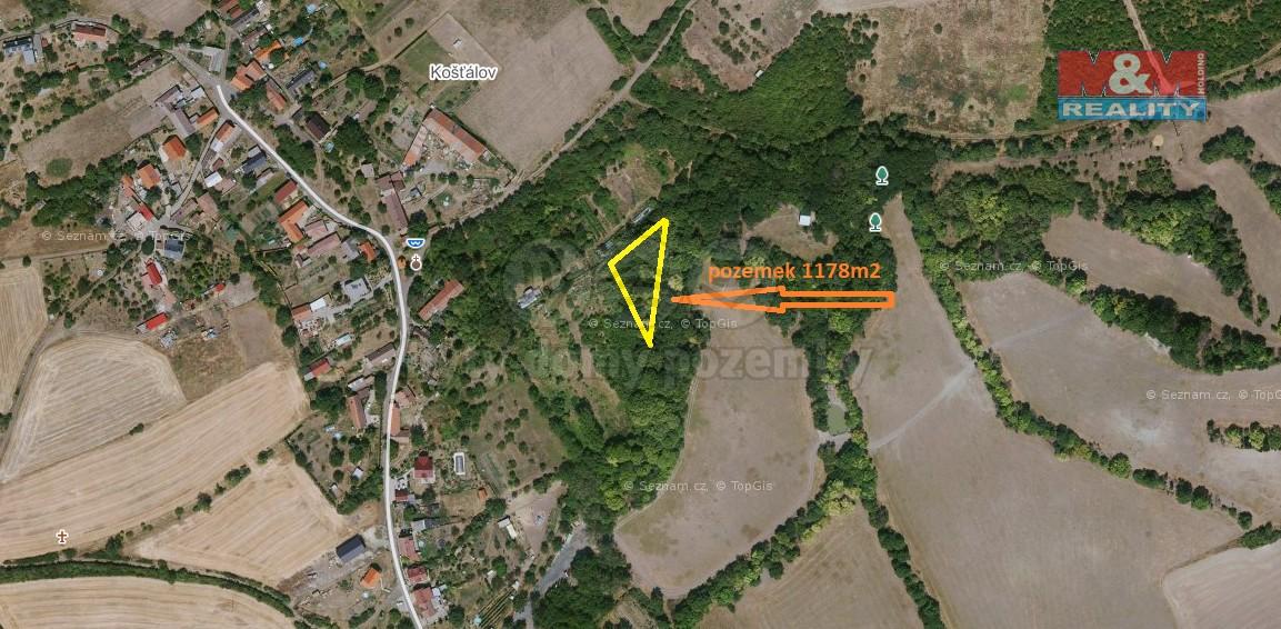 Prodej pozemku, 1178 m², Jenčice
