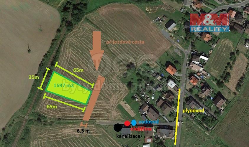 Prodej pozemku k bydlení, 1697 m², Chuchelná, ul. Družstevní