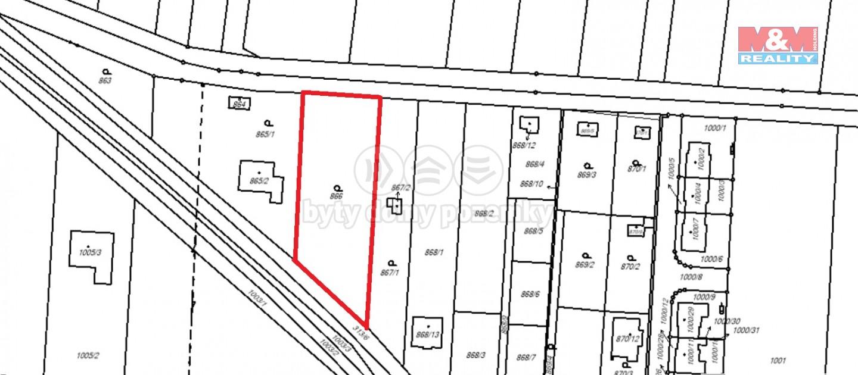 Prodej pozemku k bydlení, 1533 m², Přerov