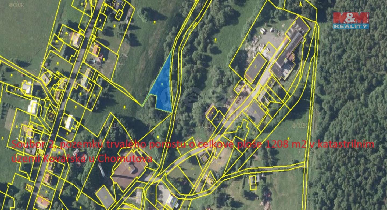 Prodej pastviny v Kovářské, 1208 m2