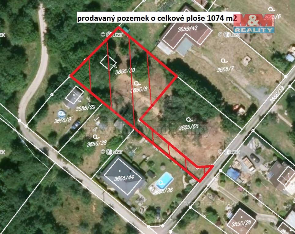 Prodej pozemku k bydlení, 1074 m², Jaroměř