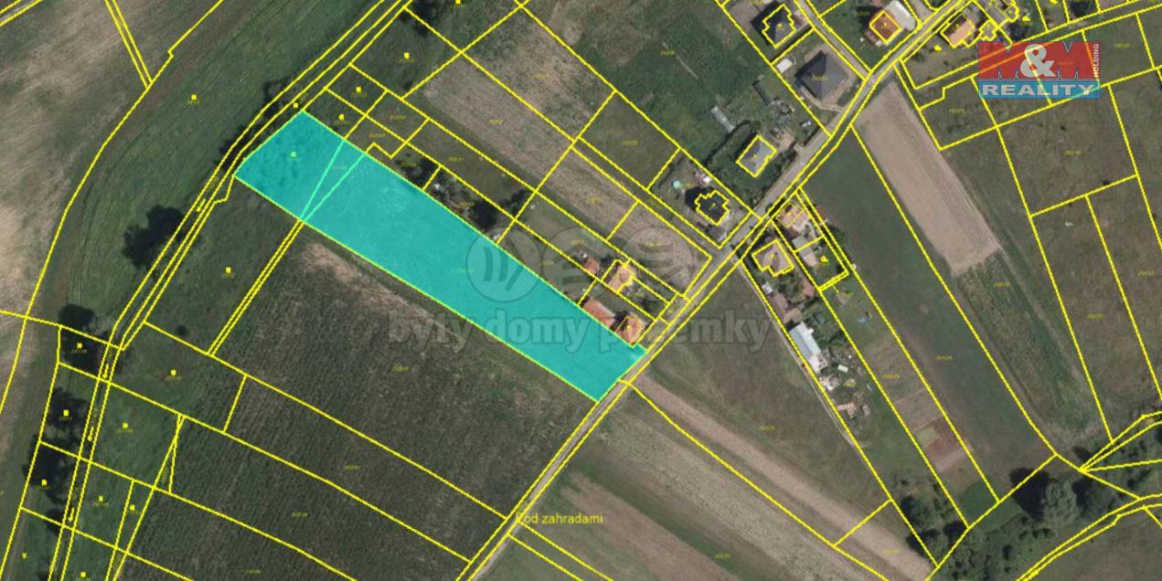 Prodej pozemku k bydlení, 7534 m², Ovčáry, ul. Ovčáry
