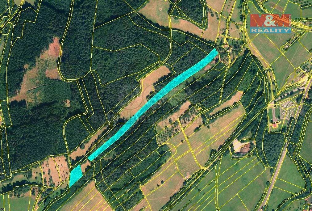 Prodej lesa, 13453 m², Lutonina