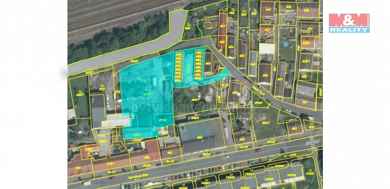 Prodej, pozemek, 2 727 m2, Nýřany, ul. Stará Čtvrť
