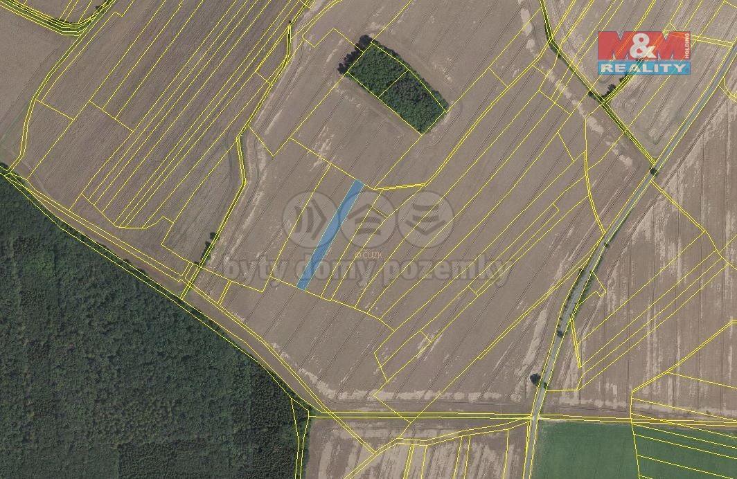 Prodej pole, 7321 m², Záhornice