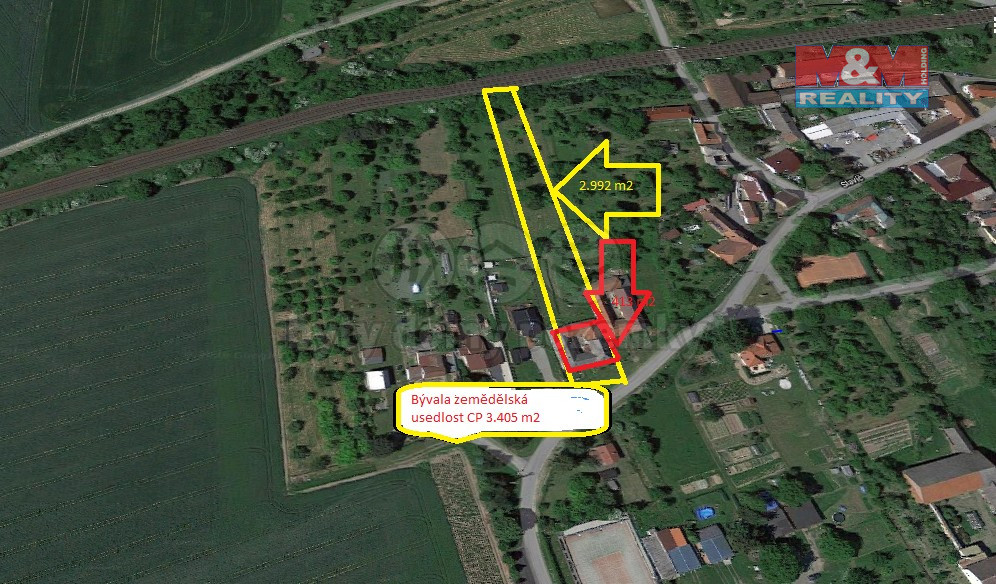 Prodej zemědělské usedlosti, 3405m2, Hranice