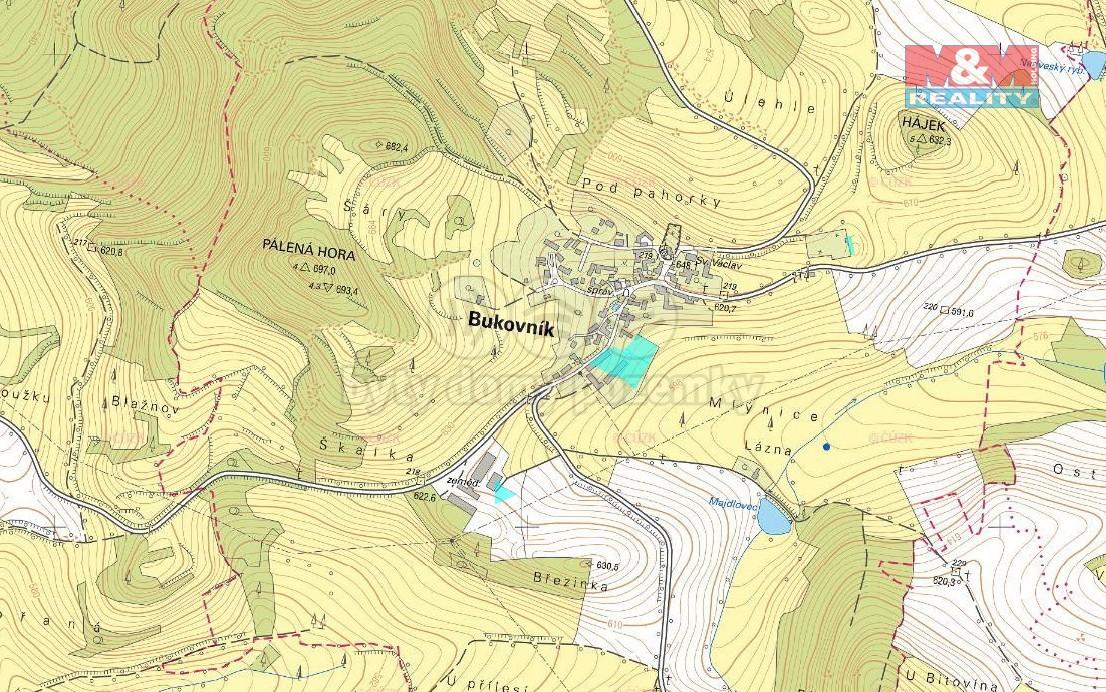 Prodej pole, 99562 m², Bukovník