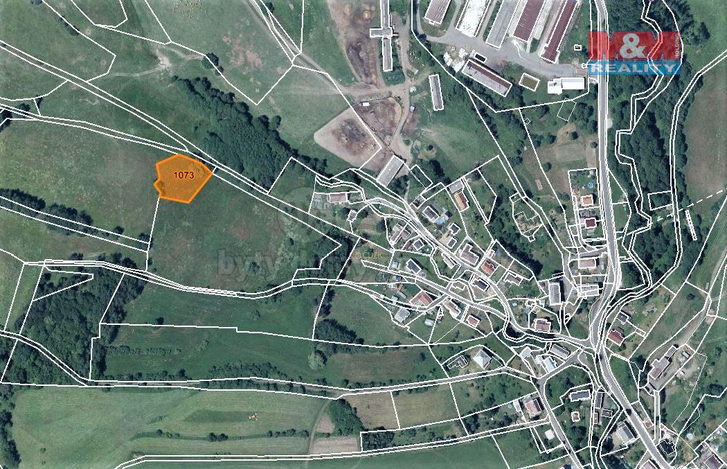 Prodej louky, 2197 m², Volfartice