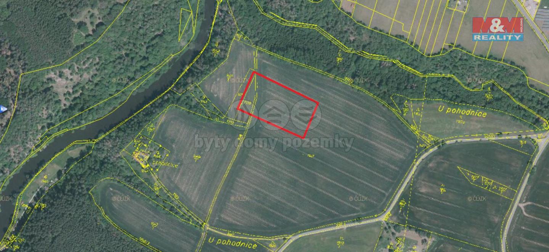 Prodej pole, 4916 m², Hodonice