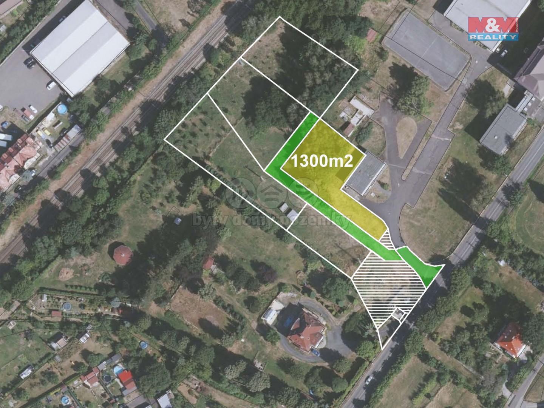 Prodej zahrady, 1283 m², Děčín, ul. Vítězství