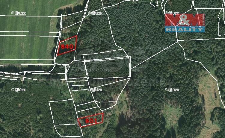 Prodej, les, 6566 m², Únějovice