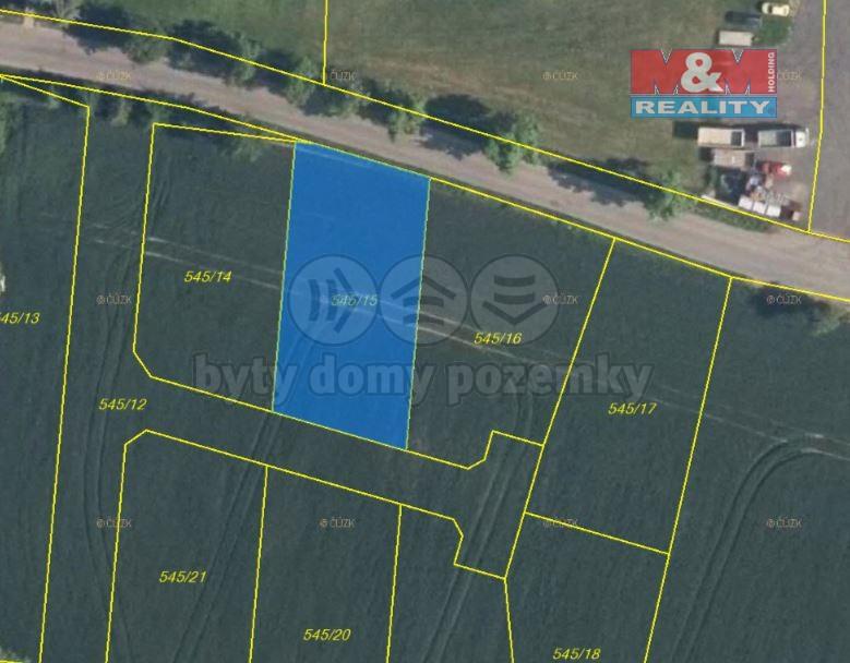 Prodej pozemku k bydlení, 865 m², Horní Slivno