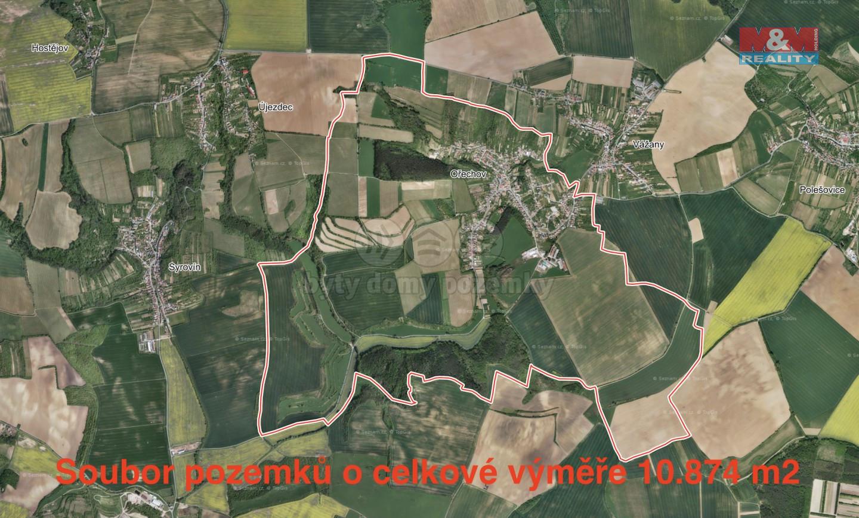 Prodej pole, 10874 m², Ořechov u Uherského Hradiště