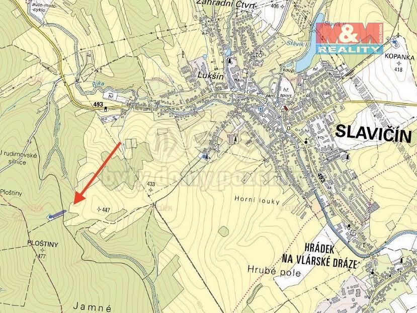 Prodej, les, 7504 m², Slavičín