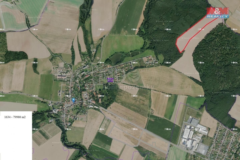 Prodej, pole, 79 980 m², Plzeň - Malesice